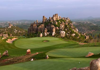 China golfplaetze stone forest