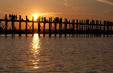 Mandalay, U Bein Bridge, Foto: © S.Scherz